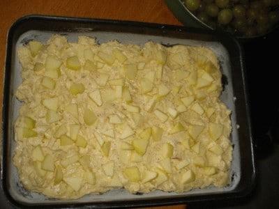 Torta soffice di mele e amaretti