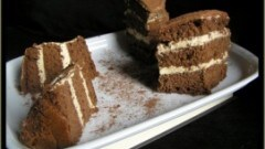 Torta al cacao con mousse al mango