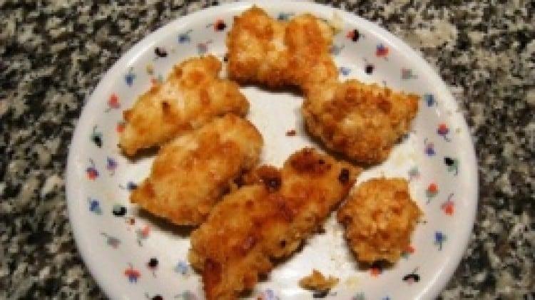 Bocconcini di pollo impanati
