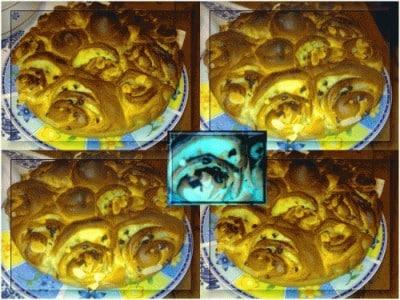 Brioche-torta di rose