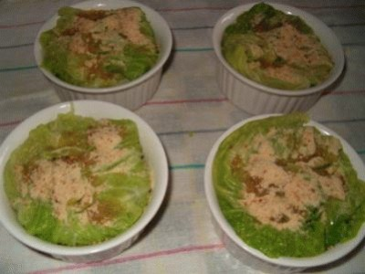 Cupolette di verza con crema di patate