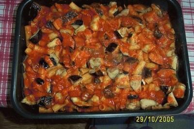 Pasta al forno con melanzane