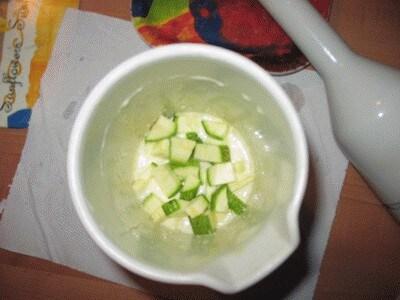 Salsa di zucchine a crudo