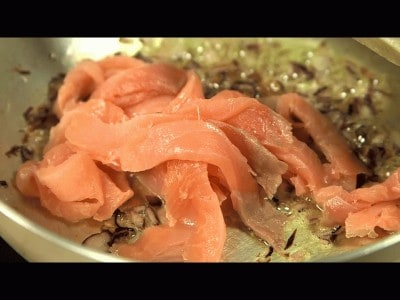 Risotto con salmone affumicato