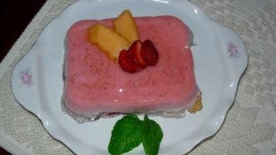 Bavarese alle fragole e melone