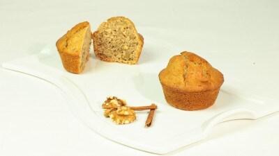 Muffins alle noci e cannella