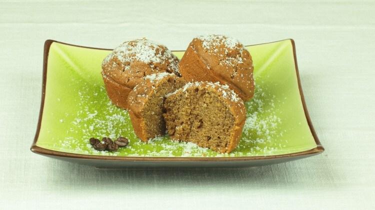 Muffin al caffè e latte di cocco