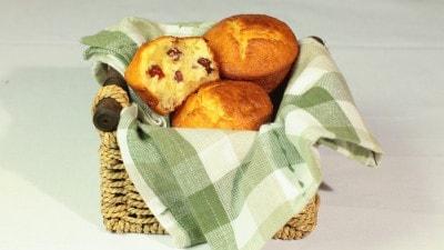 Muffin ai mirtilli rossi e mandorle