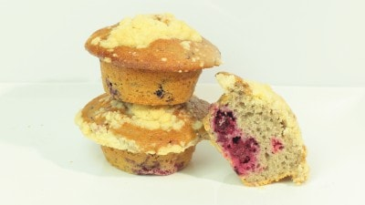 Muffins alle more con streusel