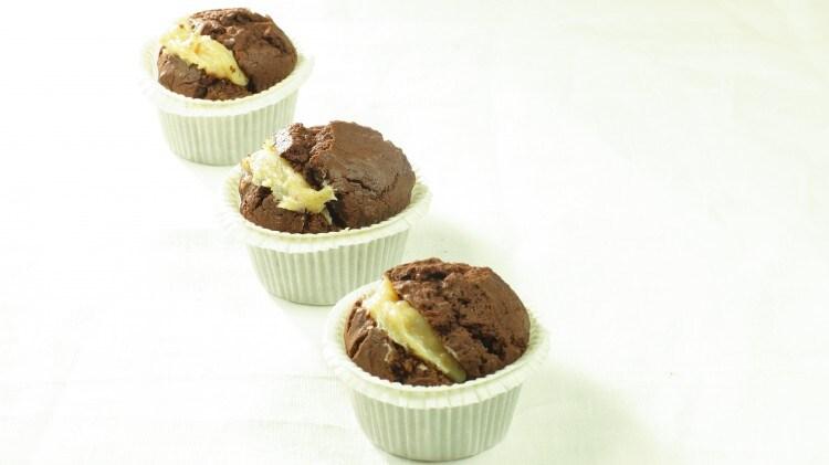 Muffins al cioccolato e caramello