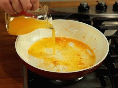 Gamberetti con salsa all'arancia