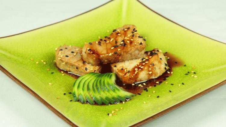 Tonno saltato con salsa teriyaki