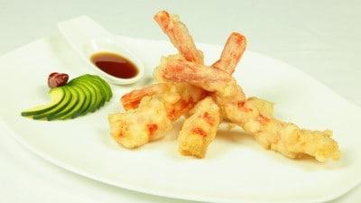 Gamberi in tempura