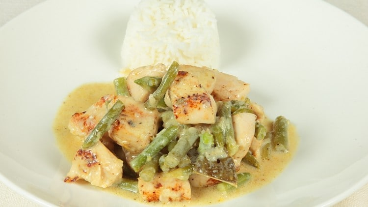 Curry verde di pollo