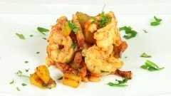 Gamberoni bacon e patate