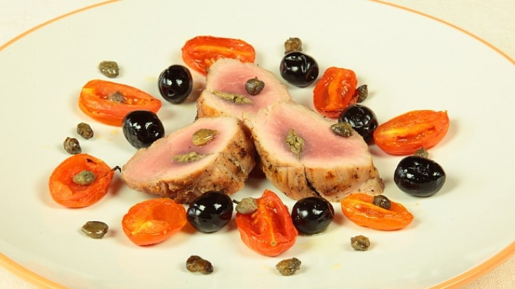 Filetto di cinghiale con capperi e olive