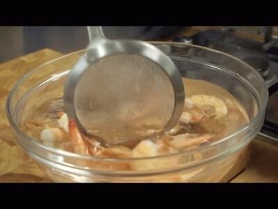 Insalata di gamberi, fagioli e lime