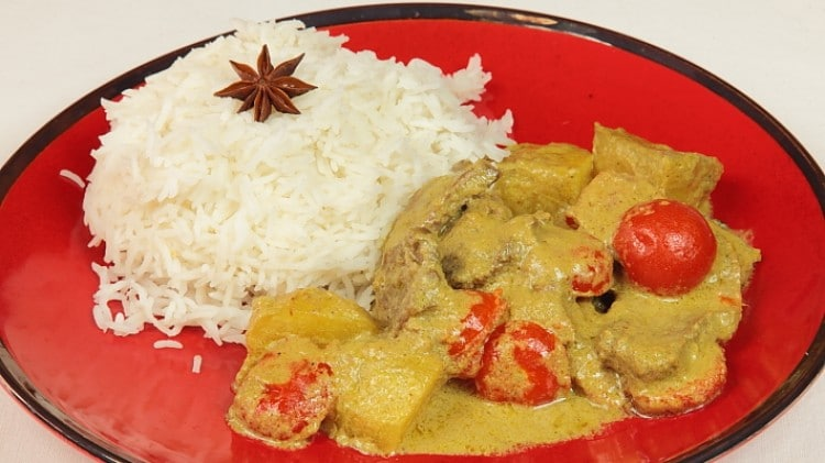 Curry d'agnello della Malesia
