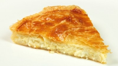 Focaccia di pasta sfoglia e formaggio