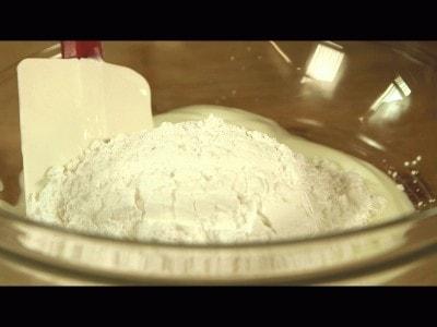 Margherita farcita alla crema di yogurt