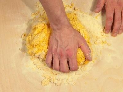 Pasta all'uovo lavorata a mano