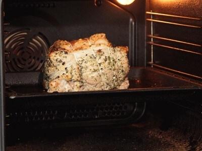 Prosciutto cotto al forno con vapore