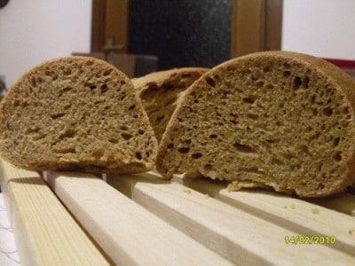 Anadama bread con farina buratto