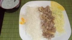 Bocconcini di vitello con riso basmati