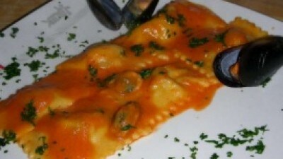 Ravioli cozze e peperoni