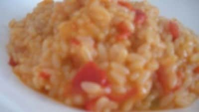Risotto con peperone rosso