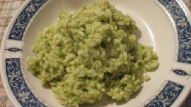 Riso con asparagi selvatici