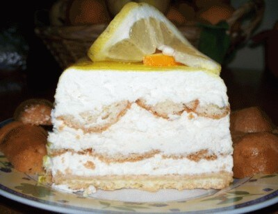 Torta di ricotta e babà al limone