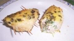 Bocconcini di pollo ripieni di philadelphia, rucola e funghi
