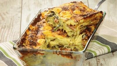 Lasagne <br>con pesto <br>di asparagi