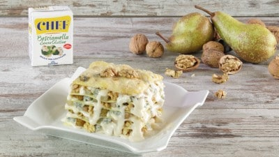 Lasagne gorgonzola e pere