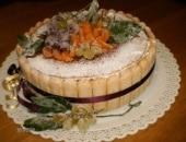 torta bavarese con frutta brinata