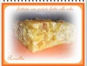 Frittata al forno con patate fritte aromatizzate alle erbe