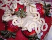 Torta con yogurt alle fragole