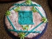 Torta Kinder Fetta a Latte con decorazioni in Marshmallow