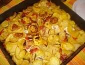 Pesce serra al forno con patate