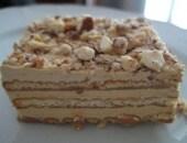 Torta mattonella ( con crema al burro al caffe')