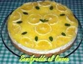 SEMIFREDDO AL LIMONE SU BASE DI BISCOTTO (Cheese Cake) senza cottura e senza uova