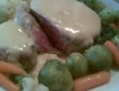 Filetto di manzo alla senape con verdure