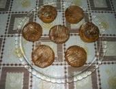 Muffin al cioccolato bianco ripieni di marmellata di fragole