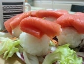 Sushi di salmone affumicato