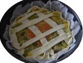 Torta salata zucchine-carote-porri