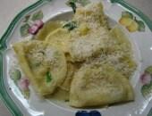 Ravioli tartufati alla crema di mais dolce