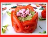 Girella di pomodoro con avocado e zucchine (antipasto sfida)