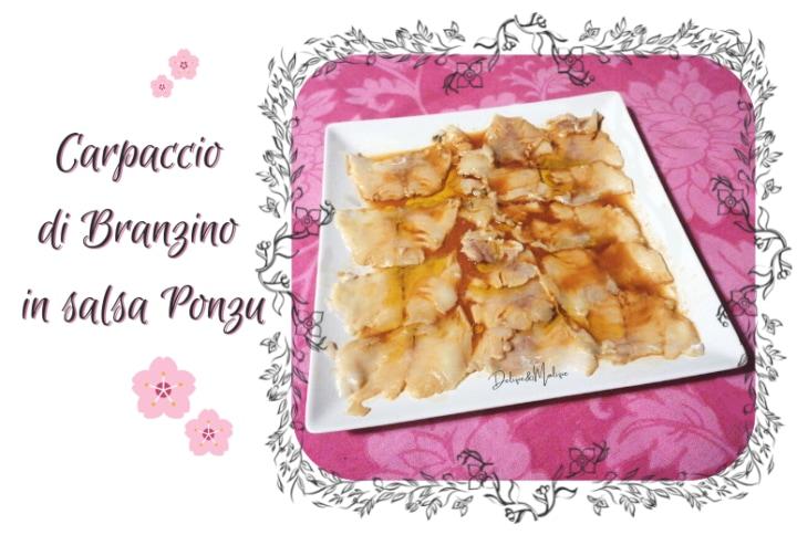 Carpaccio di branzino alla salsa Ponzu