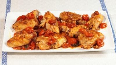 Pollo in salsa piccante